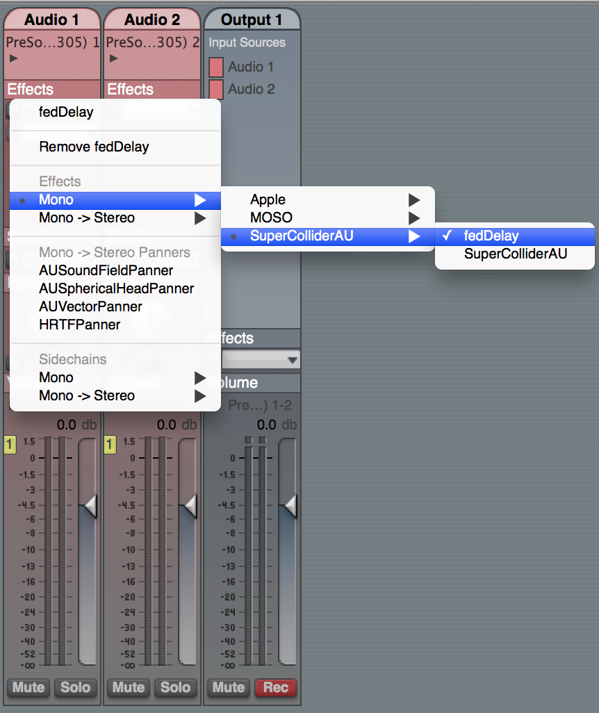 Creating Audio Unit Plugins with SuperCollider | Dave's Blog